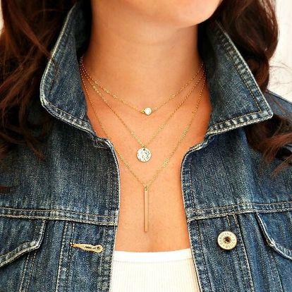 Elegantní vícevrstvý náhrdelník