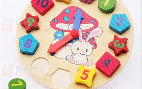 Dřevěné dětské hodiny - vkládačka a poštovné ZDARMA! - 9999914953
