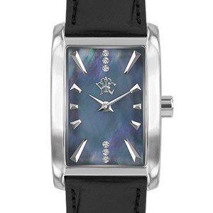RFS dámské hodinky Prima s černým řemínkem a ciferníkem stříbrné barvy