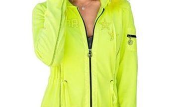 Neonově zelený dámský kabát