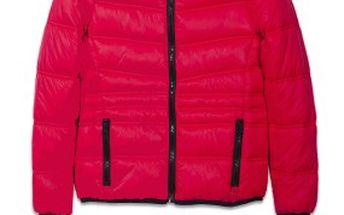 Lehká oteplená dětská bunda s kapucí