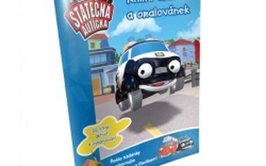 Kniha aktivity a omalovánek Statečná autíčka