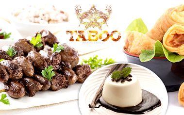 Asijské menu pro dva v restauraci Taboo