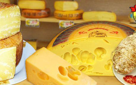 200 g kvalitních sýrů či salámů z Cheesy market