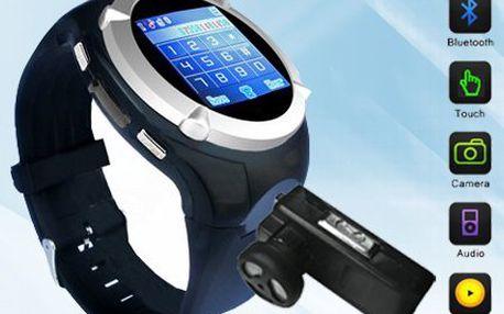 Chytré GSM hodinky s telefonem, WiFi, Bluetooth a přehrávačem