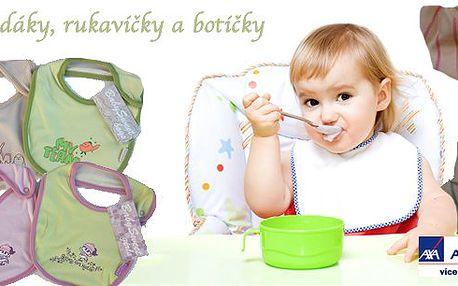 Sada dívčích nebo chlapeckých bryndáků, rukaviček a capáčků (botiček) - vyrobeno ze 100% bavlny! Krásné motivy a pohodlí pro vaše milované mrňousky!