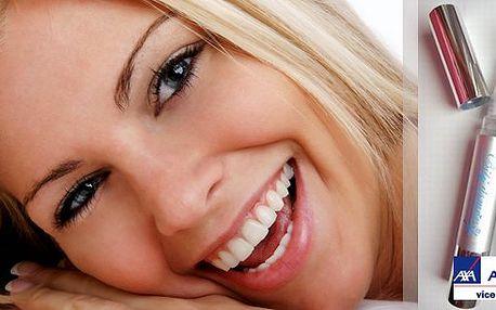 Chcete mít bílé zuby jako slavní američtí herci? Bělící tužka s nejlepším bělícím gelem vybělí zuby až o 8 odstínů za 14 dní! Má 2x větší objem než běžná tužka! Atestovaná lékařskou komorou, tudíž se nemusíte bát, že si poškodíte sklovinu.