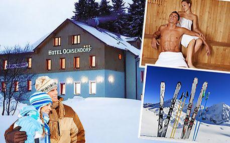 Lyžovačka v Krušných horách, Hotel Ochsendorf*** na 3 nebo 6 dní pro dva včetně polopenze