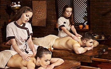 Romantická DUO HOT STONES masáž za svitu svíček a ...