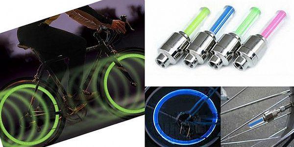 Svítící LED ventilky na kolo - 2 kusy s automatickým spuštěním při jízdě a voděodolným provedení!
