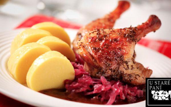 To nejlepší z pravé české kuchyně! Sleva na VEŠKERÁ JÍDLA v tradiční restauraci U Staré paní v srdci historického centra Prahy! Ochutnejte a budete se rádi vracet na skvěla domácí jídla jako od babičky!!