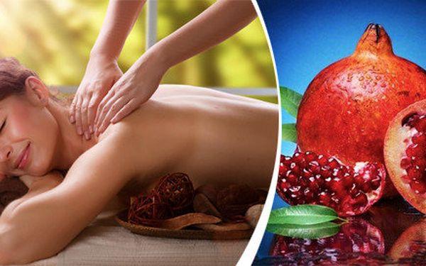 Luxusní masáž granátovým jablkem a fíky v salonu v salonu Bamizi