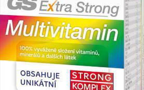 GS Extra Strong Multivitamin tbl.60+60. 100% vyvážené složení vitaminů, minerálů a dalších aktivních látek.