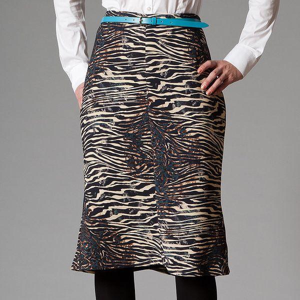 Dámská sukně s tygrovaným vzorem Pietro Filipi
