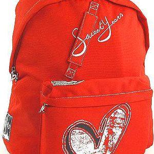 Červený se srdíčkem textilní batoh z kolekce Sweet Years