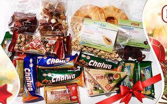 Velký balík zdravých sladkostí - oříšky, ovoce a spol.