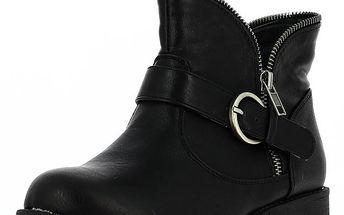 Dámské kotníčkové boty se zipem Shoes and the City