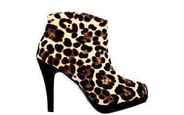 Dámské kotníčkové boty s leopardím vzorem Shoes and the City
