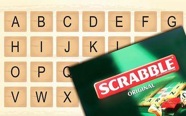 Originální anglická verze zábavné hry Scrabble na procvičení vašeho myšlení a paměti