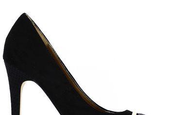 Dámské černé lodičky s dekorativní špičkou Shoes and the City