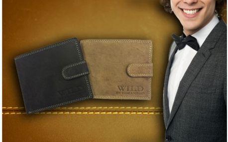Pánské peněženky Wild z hovězí kůže v elegantních barvách. Pěkný dárek pro muže každého věku.