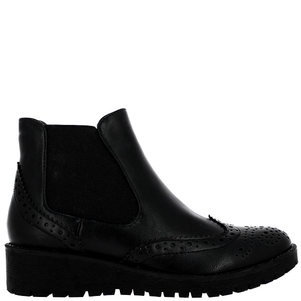 Dámské černé chelsea boty Vanessa Wu