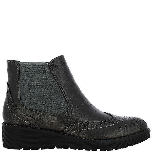 Dámské antracitové chelsea boty Vanessa Wu