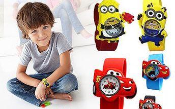 Dětské hodinky s motivem Mimoňe nebo Cars