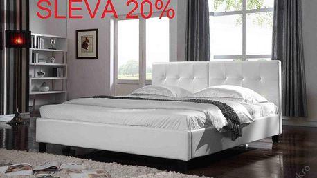 Luxusní koženková postel + rošt 180 x 200 cm