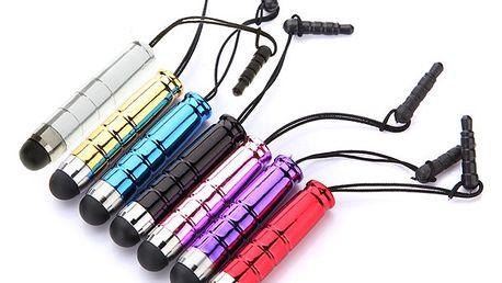 Barevné dotykové pero (stylus) s plastovým trnem - 6 barev