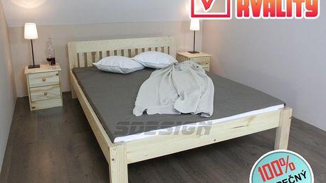 Postel TORINO masiv 160 x200 + rošt + matrace Vita
