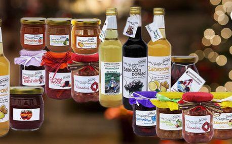 Vánoční balíčky marmelád od Macháčků