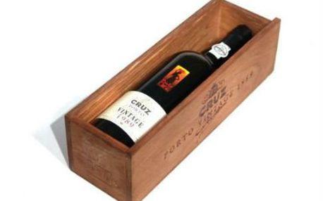Portské víno Porto Cruz Vintage ročník 1989 v dárkové krabici