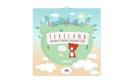 Teribear rodinný plánovací, poznámkový kalendář 2015, 30 x 30 cm