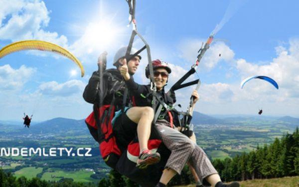 TANDEMOVÝ PARAGLIDING PLUS + pořízení videozáznamu v Beskydech! Adrenalinový zážitek pro 1 osobu!