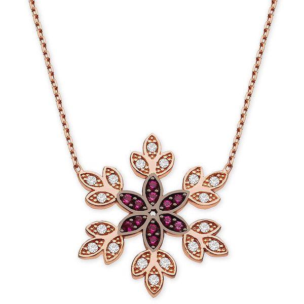 Dámský náhrdelník s ozdobným květinovým přívěskem Elite Goby