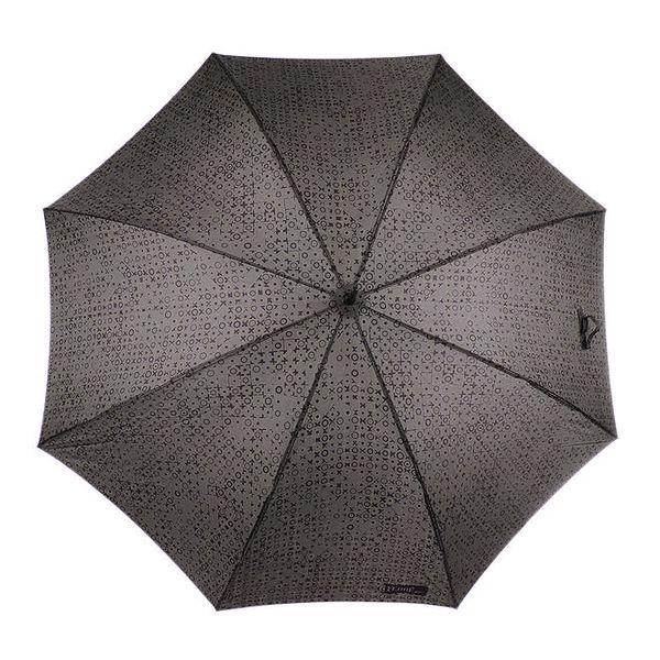 Pánský šedý vystřelovací deštník se vzorem Ferré Milano