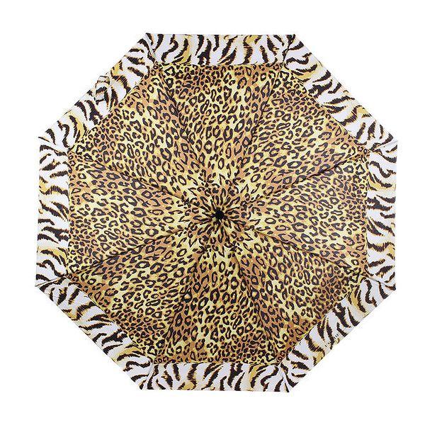 Dámský skládací vystřelovací deštník se zvířecím vzorem Ferré Milano