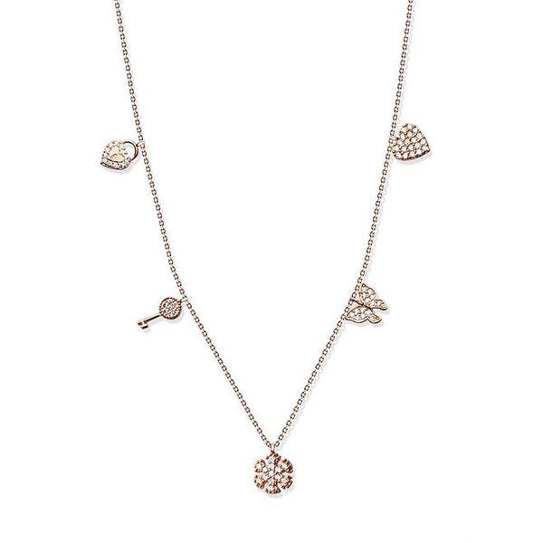 Dámský stříbrný náhrdelník s maličkými přívěsky Elite Goby