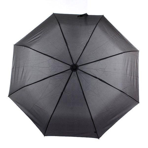 Pánský černý vystřelovací deštník s proužkem Ferré Milano