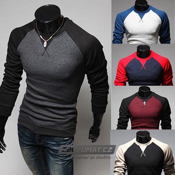 Pánské tričko SlimFit s dlouhým rukávem - velikosti M-XXL!