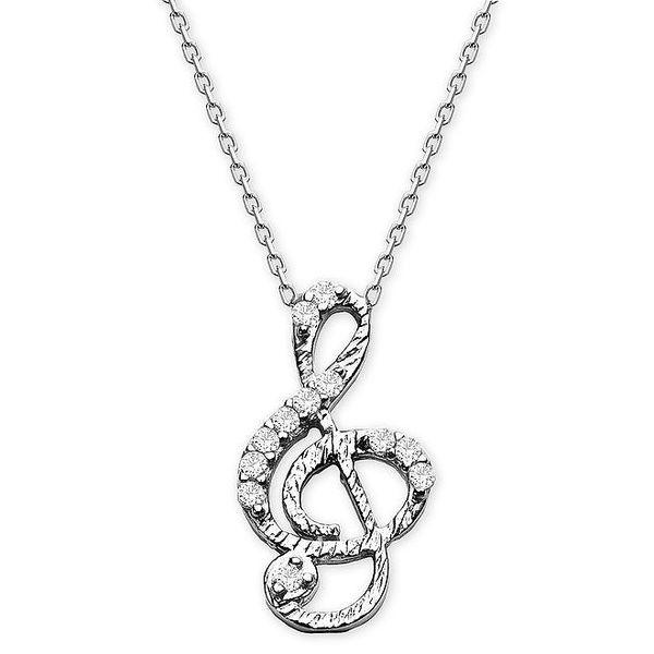 Dámský náhrdelník s houslovým klíčem Elite Goby
