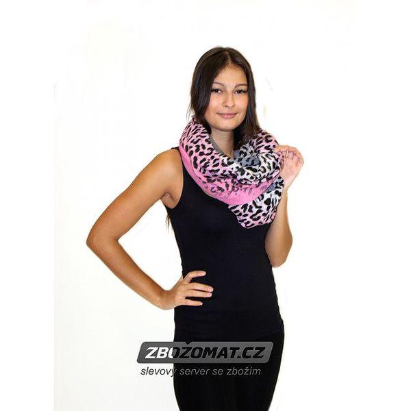 Stylový dámský šátek Pink Leopard! - doprava ZDARMA!
