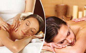 Klasická regenerační nebo relaxační aromaterapeutická masáž (60 nebo 120 minut)