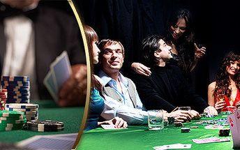Škola pokeru s profesionály (90 min + kvalifikační turnaj)