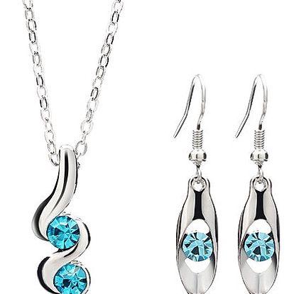 Elegantní sada náhrdelníku a náušnic - 3 barvy