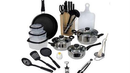 25dílná startovací sada nádobí a příslušenství do kuchyně