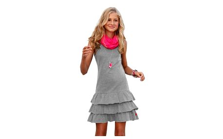 Trendy dívčí šaty s volánky
