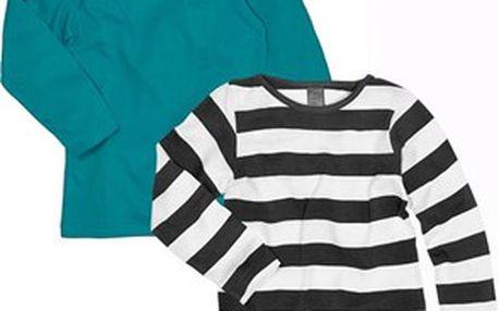 Set 2ks jednoduchých dětských triček