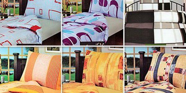 Různobarevné flanelové povlečení - různé vzory